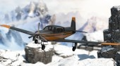 Snowy Mountain Flight Stunts
