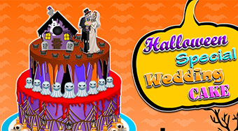 Halloween Special Wedding Cake