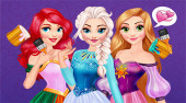 Disney Princesses Rainbow Dresses
